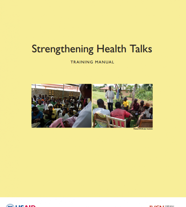 Download Resource: Strengthening Health Talks Training Manual