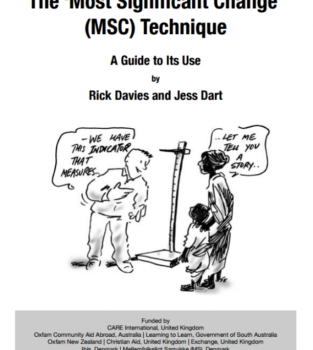 Download Resource: The 'Most Significant Change' (MSC) Technique