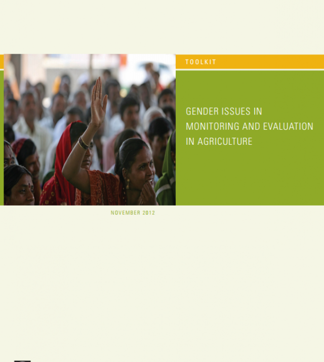 Download Resource: Toolkit: Gender Issues in Monitoring and Evaluation in Agriculture