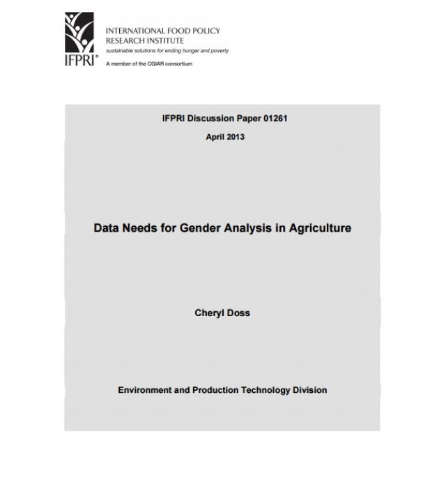 Download Resource: Data Needs for Gender Analysis in Agriculture