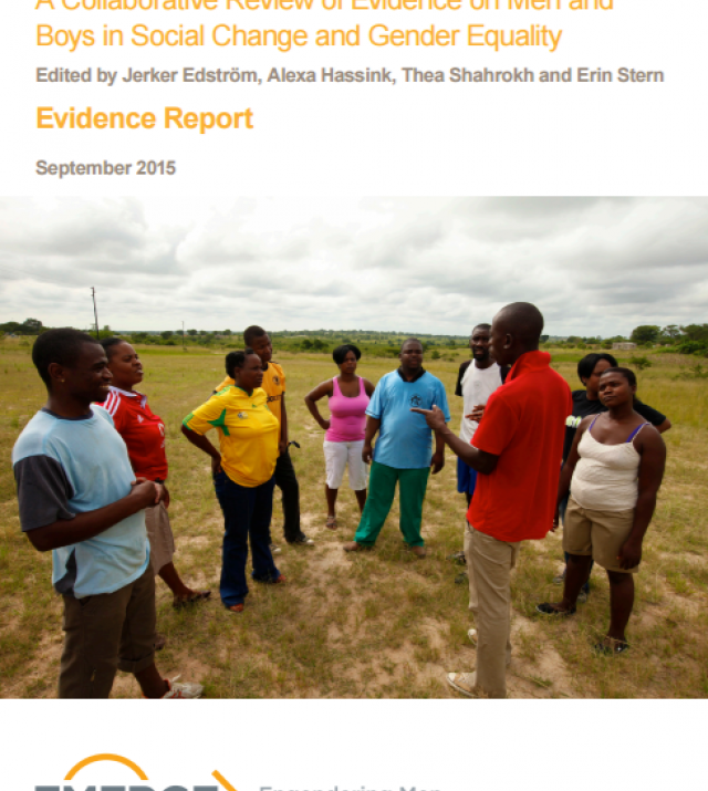 Download Resource: Engendering Men: A Collaborative Review of Evidence on Men and Boys in Social Change and Gender Equality
