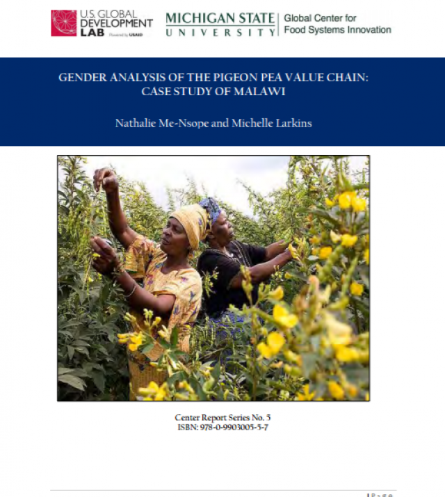 Download Resource: Gender Analysis of the Pigeon Pea Value Chain: Case Study of Malawi