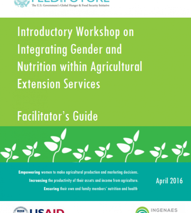 Download Resource: Introductory Workshop on Integrating Gender and Nutrition within Agricultural Extension Services