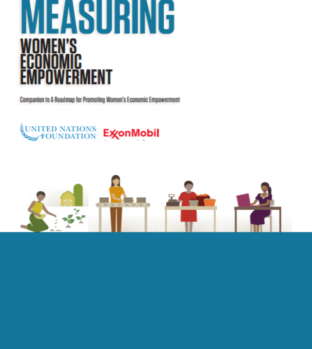 Download Resource: Measuring Women's Economic Empowerment, Companion to a Roadmap for Promoting Women's Economic Empowerment