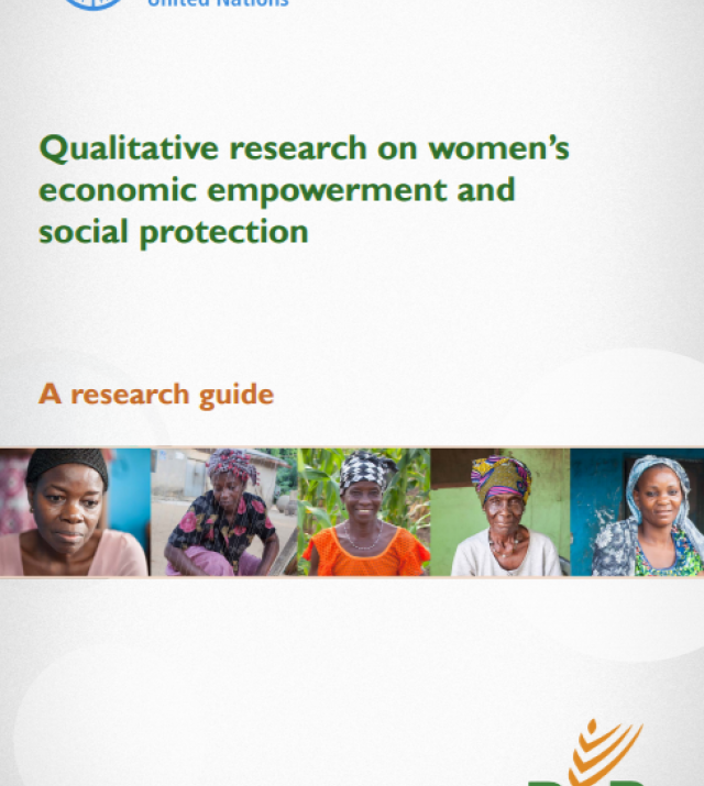 Download Resource: Qualitative research on women's economic empowerment and social protection: A research guide