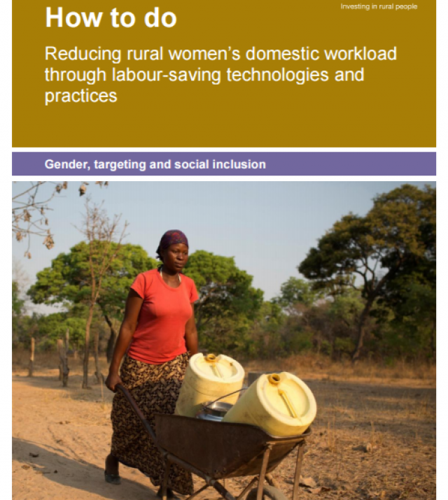 Download Resource: How to do: Reducing rural women's domestic workload through labour-saving technologies and practices