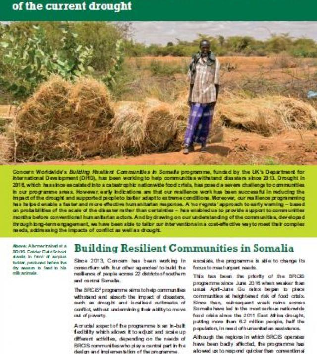 Download Resource: Tackling Food Crisis in Somalia: How resilience programming has reduced the impact of the current drought