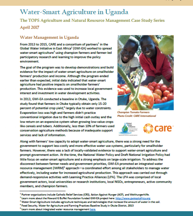 Download Resource: Water-Smart Agriculture in Uganda
