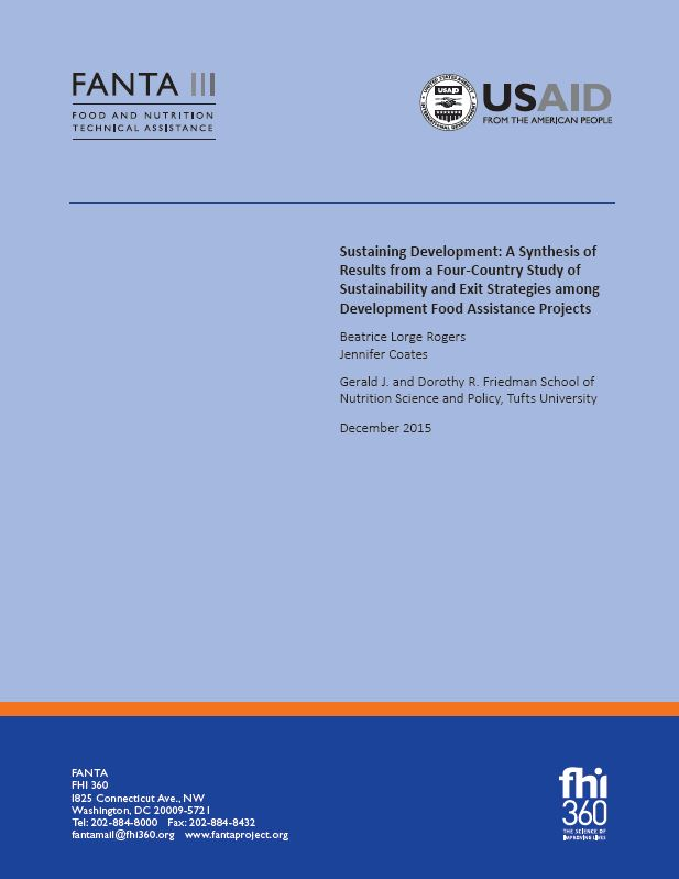 Download Resource: Sustaining Development: Results from a Study of Sustainability and Exit Strategies among Development Food Assistance Projects