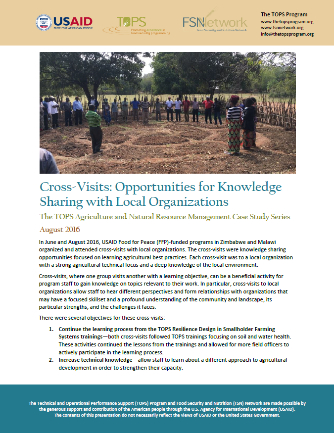 Download Resource: TOPS ANRM Case Study: Cross-Visits: Opportunities for Knowledge Sharing with Local Organizations