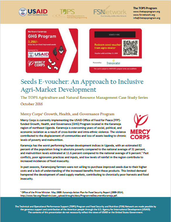 Download Resource: TOPS ANRM Case Study: Seeds E-voucher: An Approach to Inclusive Agri-Market Development