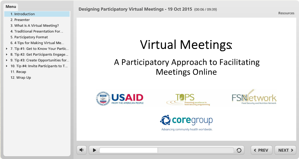 Hosting a successful virtual meeting.